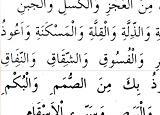Peygamberimizin herşeyden sığınma duası – Arapça okunuşu Türkçe manası